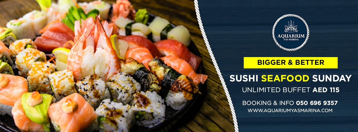 Sushi & Seafood Sunday Ladies Night  @ Aquarium Yas