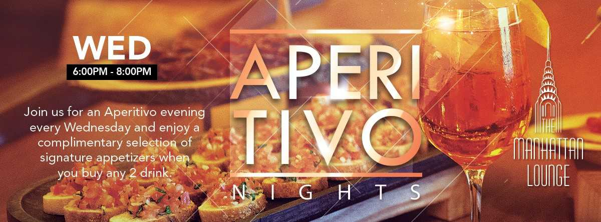 Aperitivo  Nights @ The Manhattan Lounge
