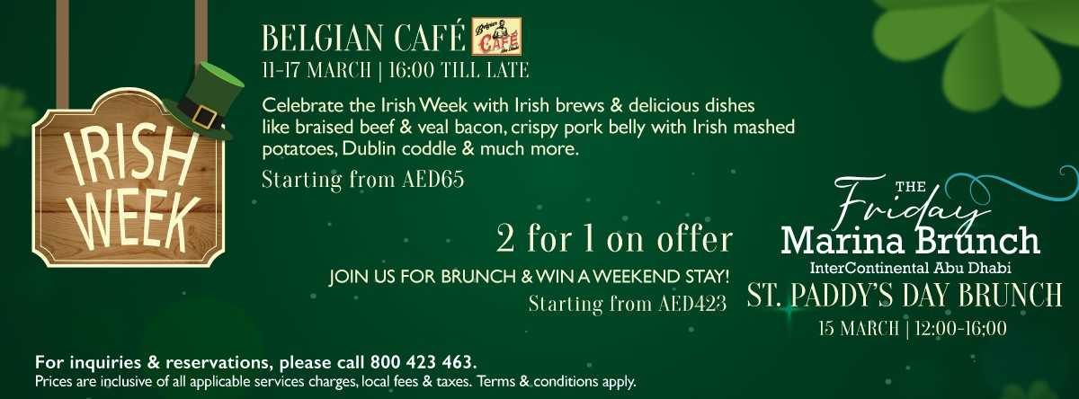 Irish Week & St. Patrick's Day Brunch @ InterContinental Abu Dhabi