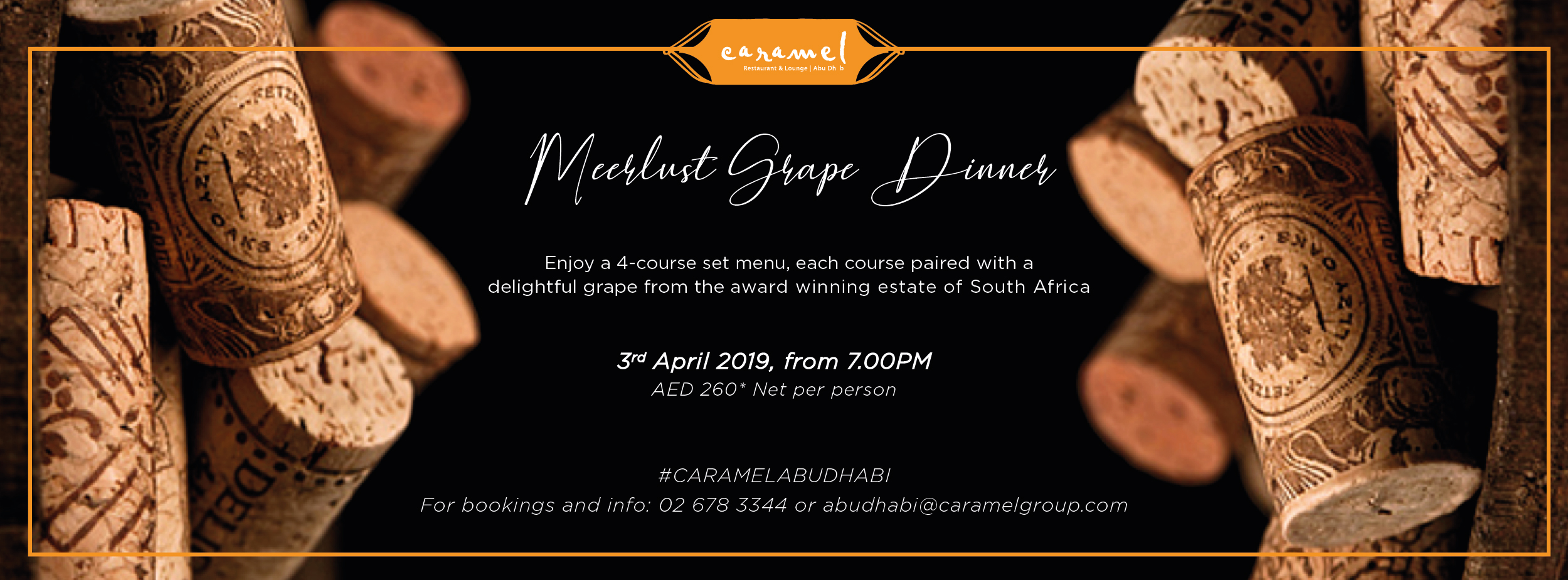 Meerlust Grape Dinner @ Caramel Abu Dhabi
