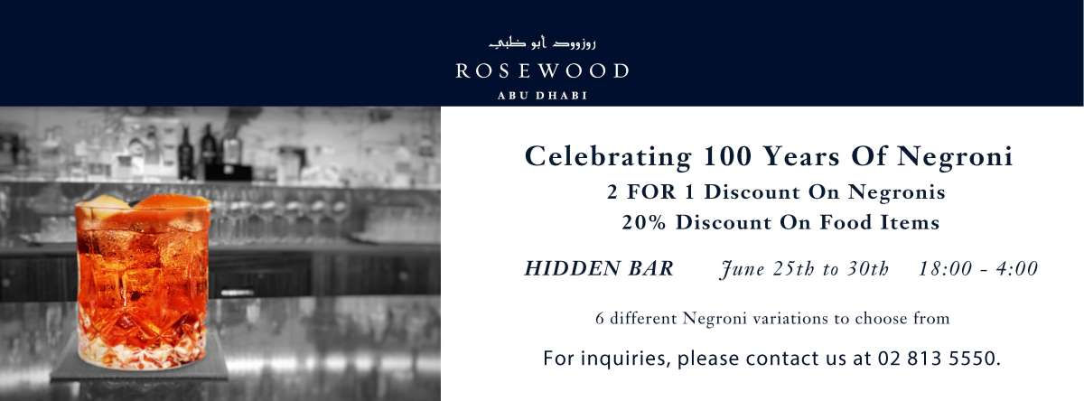 100 Years of Negroni @ Hidden Bar