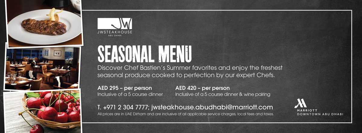 Chef's Seasonal Menu @ JW Steakhouse