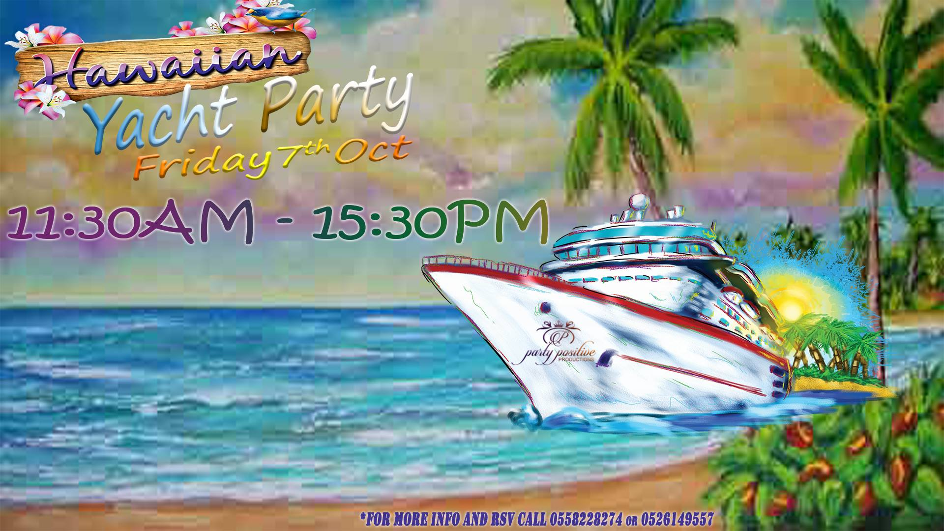 Party Positive Hawaiian Yacht Party Early Edition