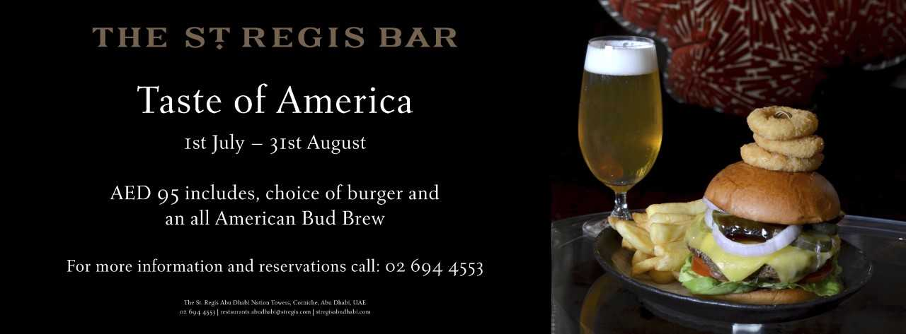 Taste of America @ The St Regis Bar