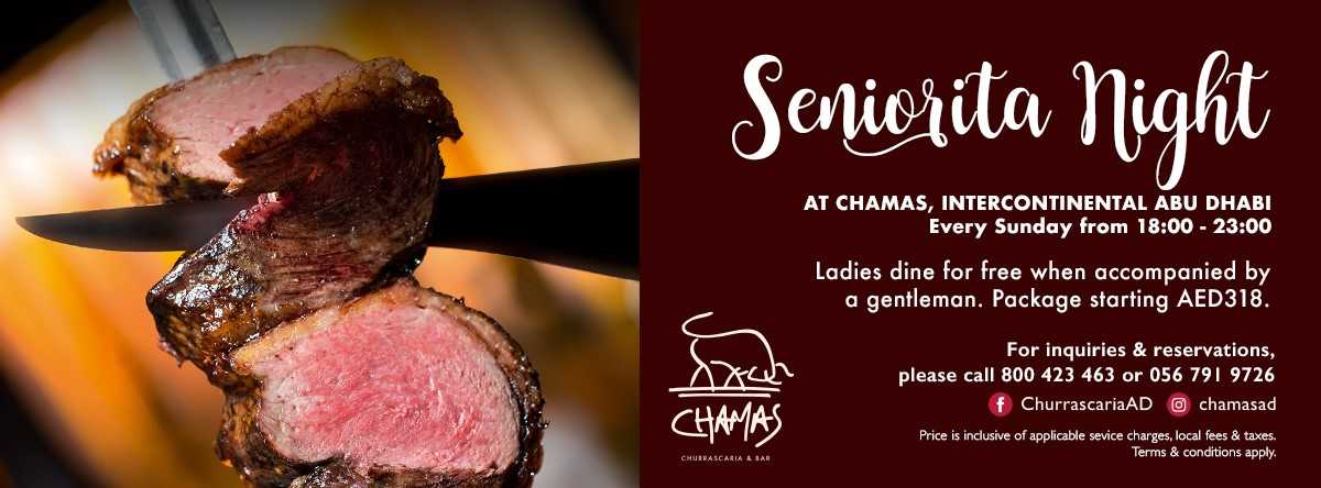 Senorita Night @ Chamas InterContinental Abu Dhabi