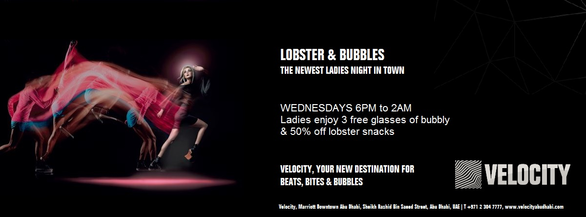 Lobster & Bubbles Ladies Night @ Velocity