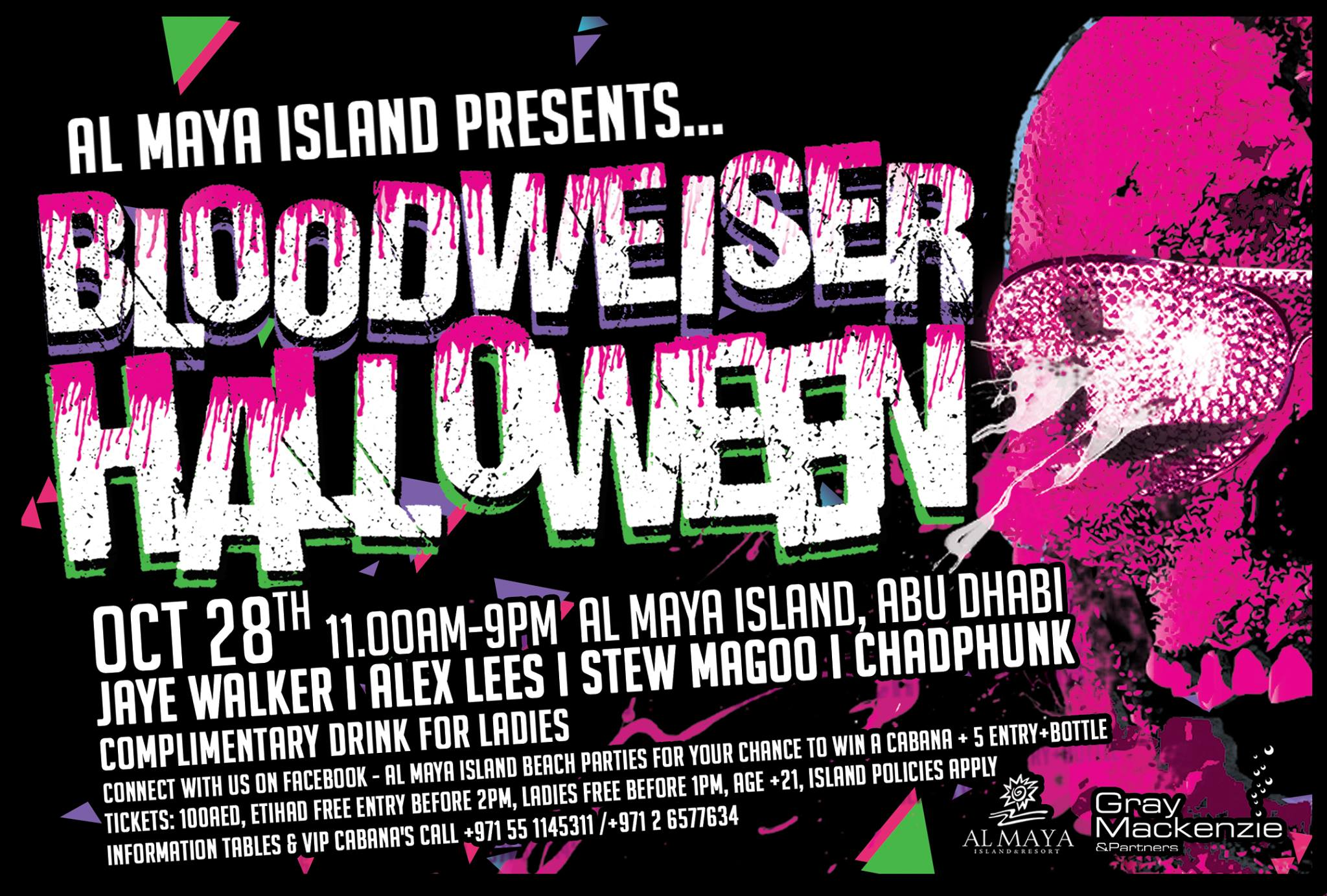 Al Maya Island presents the Halloween Maya Bloodweiser