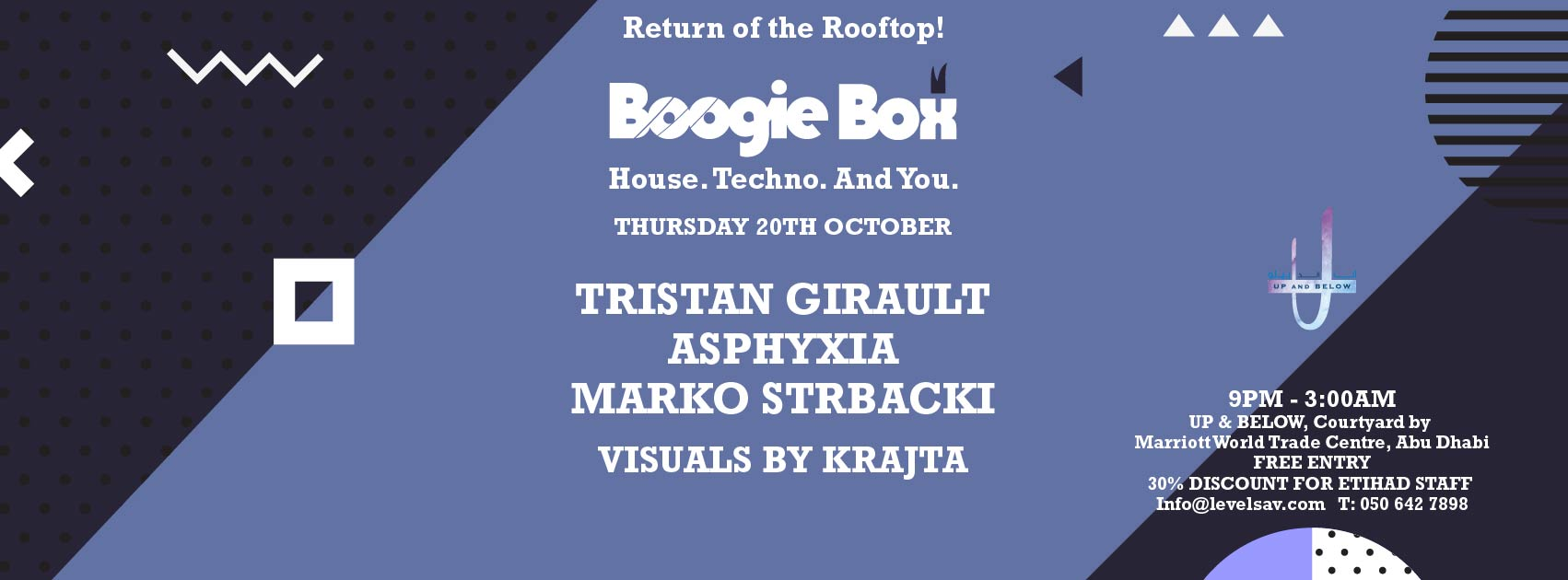 Boogie Box Rooftop Debut @ Up & Below