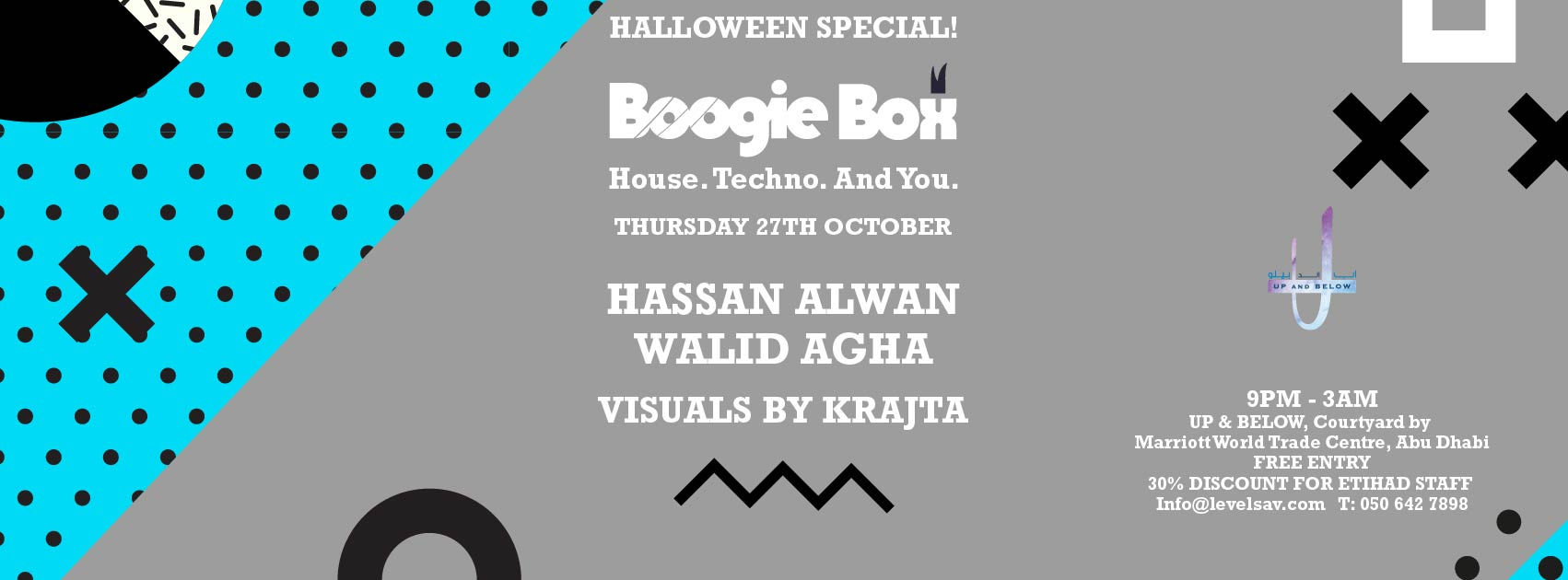 Boogie Box Halloween Special @ UP & BELOW