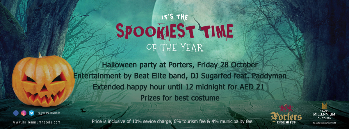 It's the Spookiest time of the year – Porters Halloween Party