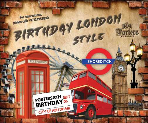 Porters 8th Birthday - London Style