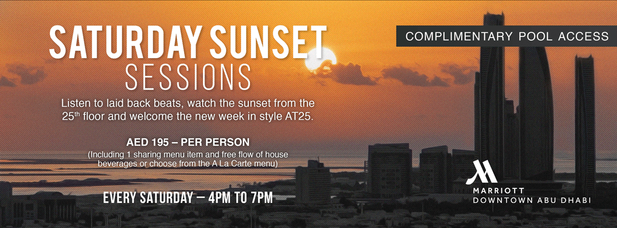 Saturday Sunset Sessions  AT 25