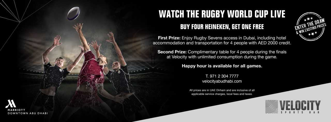 Rugby World Cup @ Velocity