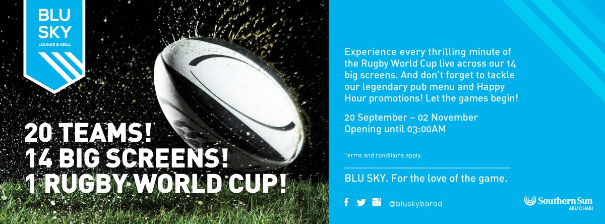 Rugby World  Cup @ Blu Sky Lounge & Grill
