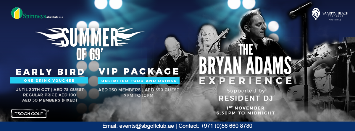 The Bryan Adams Experience @ Saadiyat Beach Golf Club