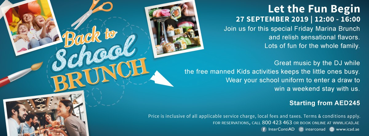 Back to School Brunch @ InterContinental Abu Dhabi