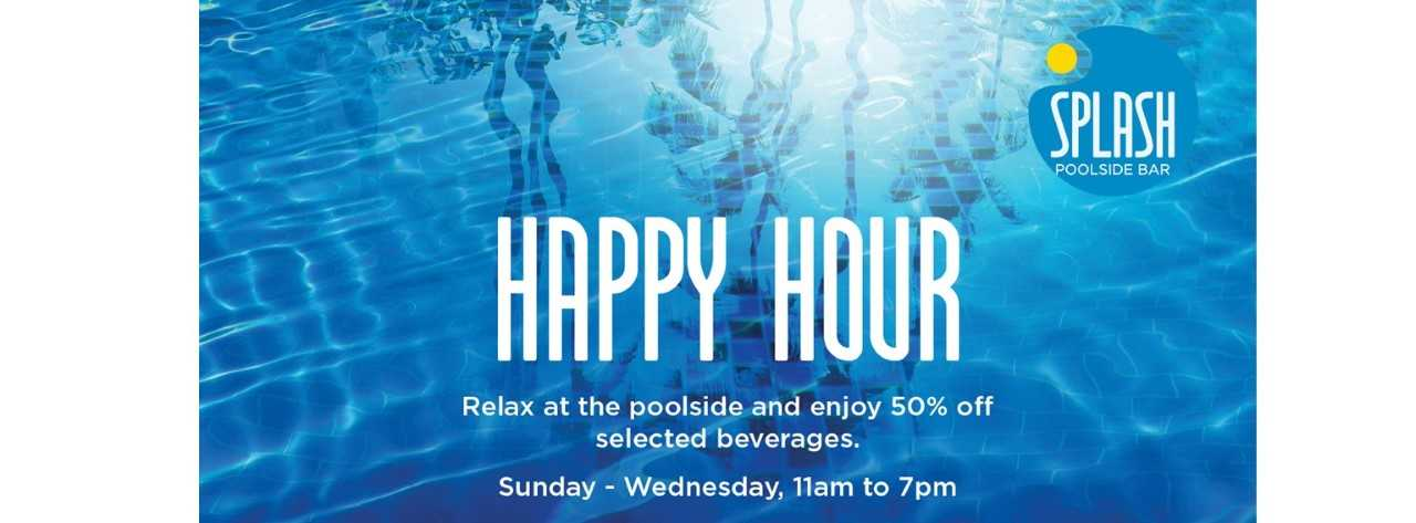 Splash Happy Hour @ Marriott Hotel Al Forsan