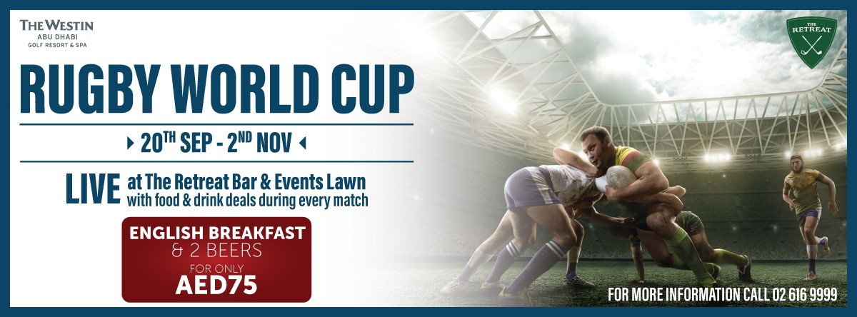 Rugby World Cup @ The Retreat & Events Lawn