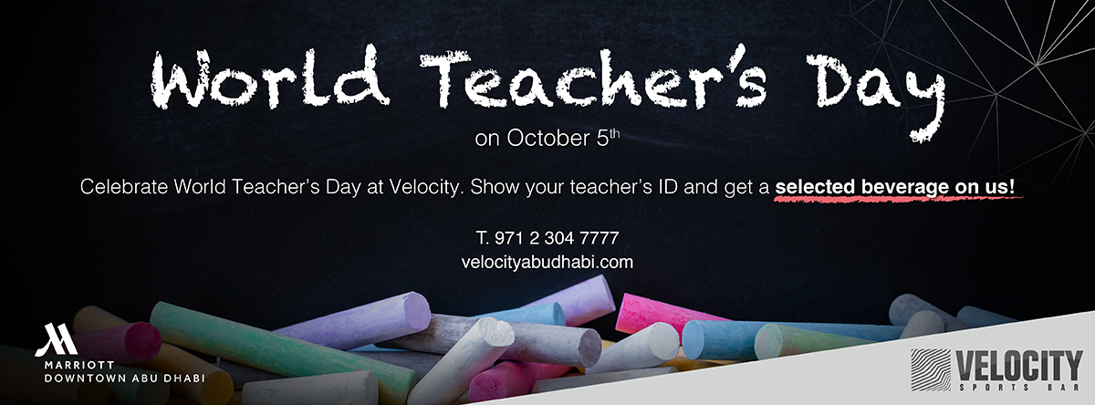 World Teachers Day @ Velocity