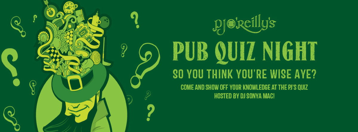 Pub Quiz Night @ PJ O'Reilly's