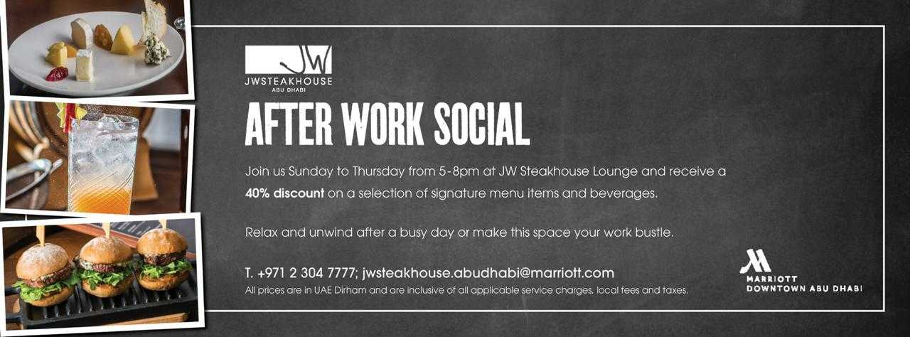 After Work Social @ JW Steakhouse