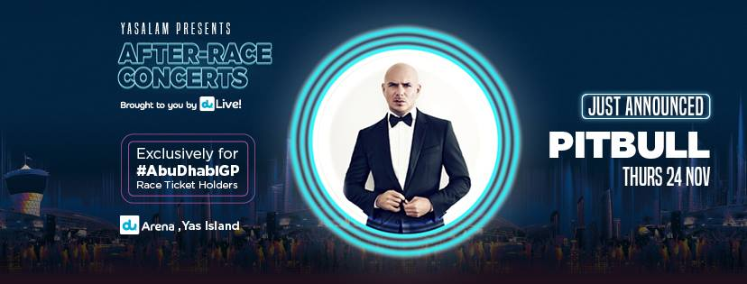 After Race Concerts: Thursday night - Pitbull