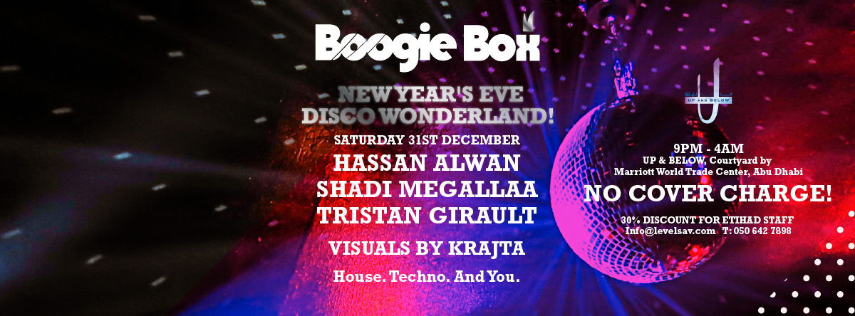 Boogie Box New Year's Eve Disco Wonderland Party @ Up and Below