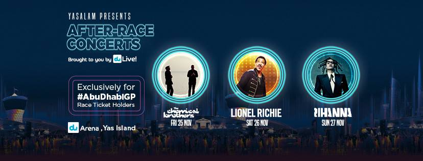 After Race Concerts - Saturday night - Lionel Richie