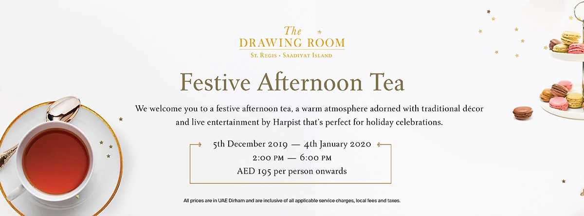 Festive Afternoon Tea @ The Drawing Room