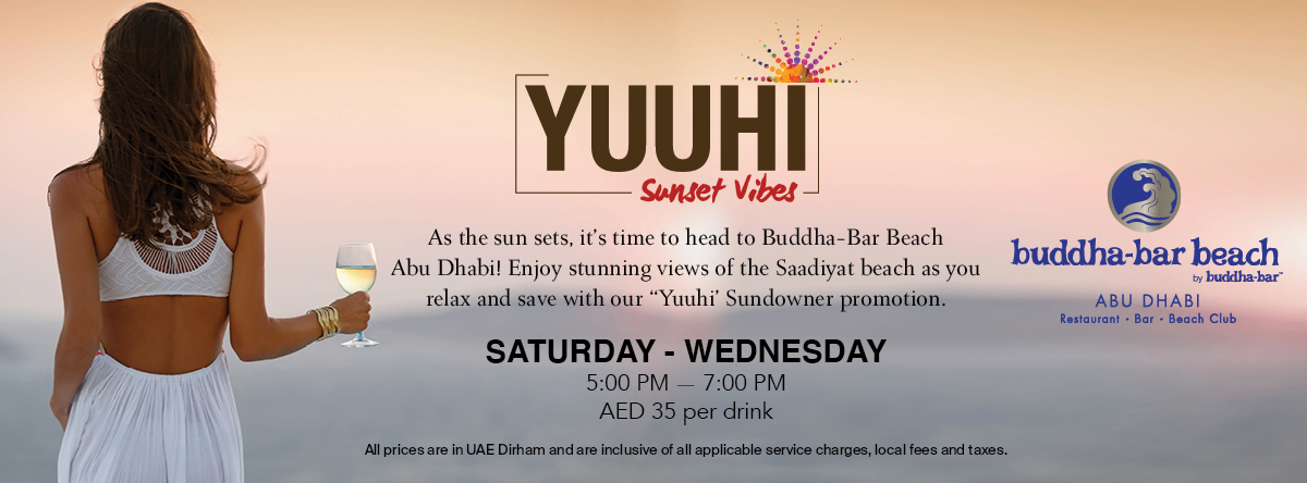 YUUHI- Sunset Vibes @ Buddha-Bar Beach Abu Dhabi