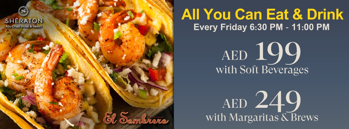 All you Can Eat & Drink at El Sombrero