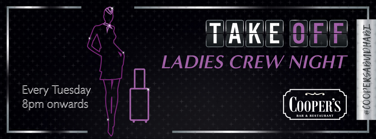 Take Off Ladies Night @ Cooper's