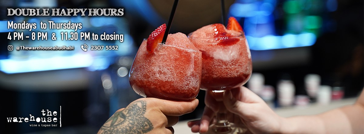 New Double Happy Hours @ The Warehouse