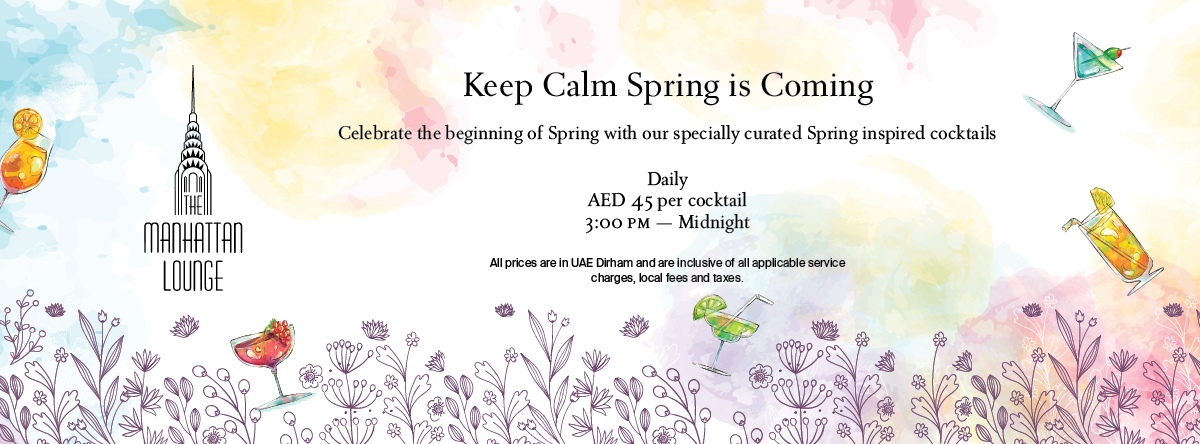 Keep Calm; Spring is Coming @ The Manhattan Lounge