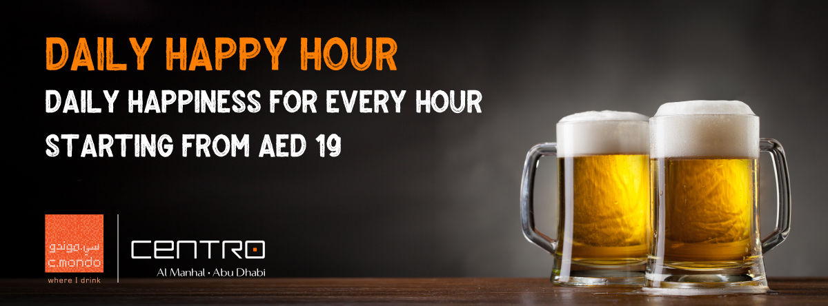 Daily Happy Hour @ c.mondo