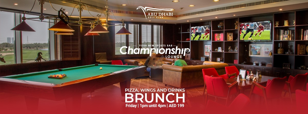 Pizza, Wings and Drinks Brunch @ Championship Lounge