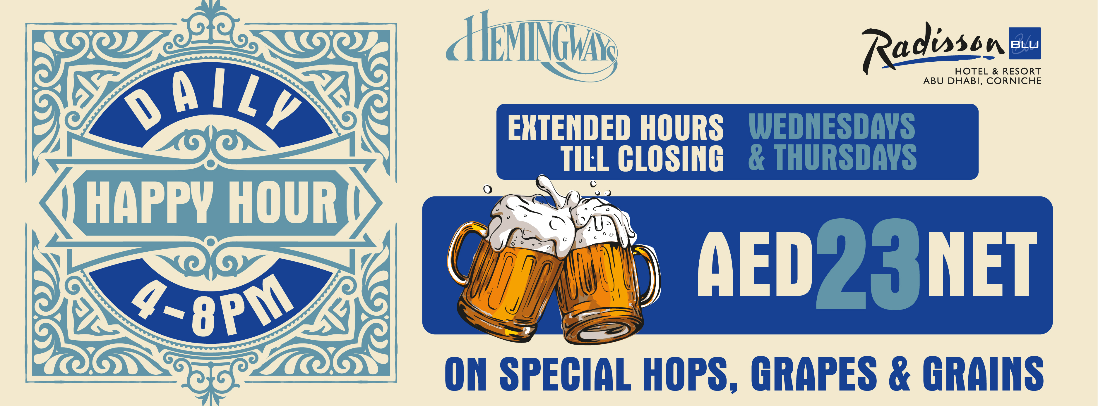 Daily Happy Hour @ Hemingway's