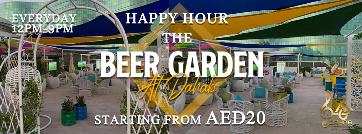 Happy Hour @ The Beer Garden at Dahab