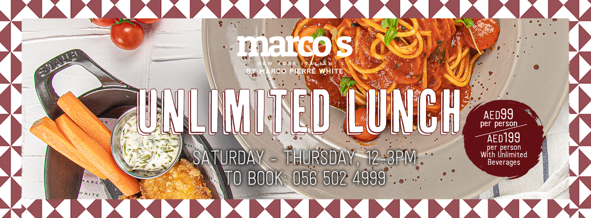 Unlimited Lunch @ Marco's