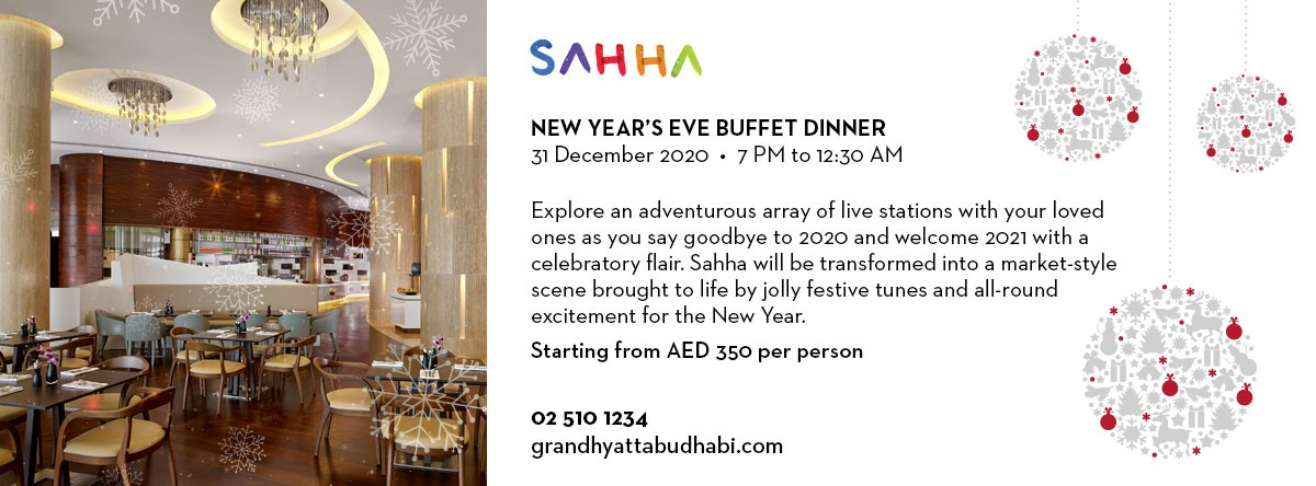New Year's Eve Buffet Dinner @ Sahha Restaurant
