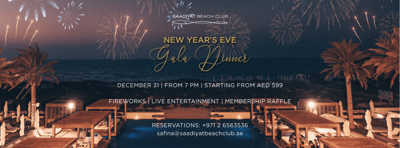 New Year's Eve Gala Dinner @ Saadiyat Beach Club