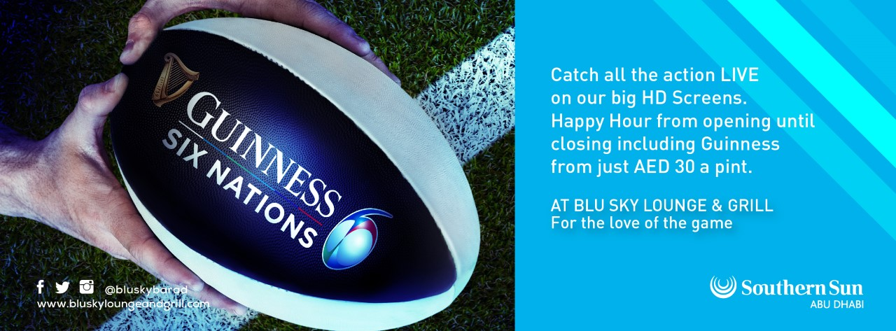 6 Nations Rugby @ Blu Sky