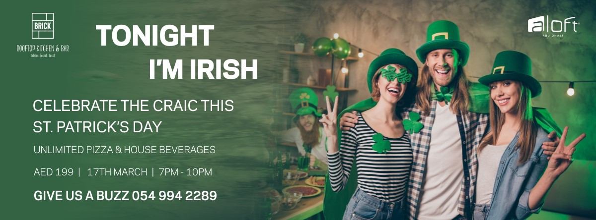 St. Patrick's Day @ Brick Rooftop Kitchen & Bar