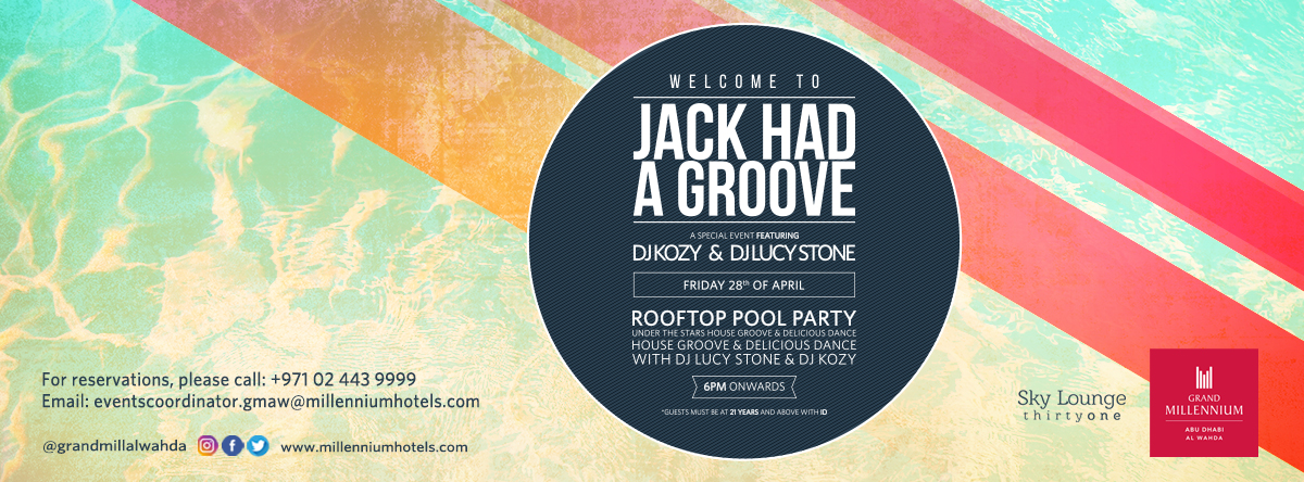 Jack had a Groove – Roof Top Pool Party