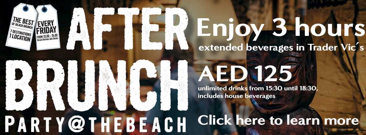 After Brunch Party @ Trader Vic's, Beach Rotana