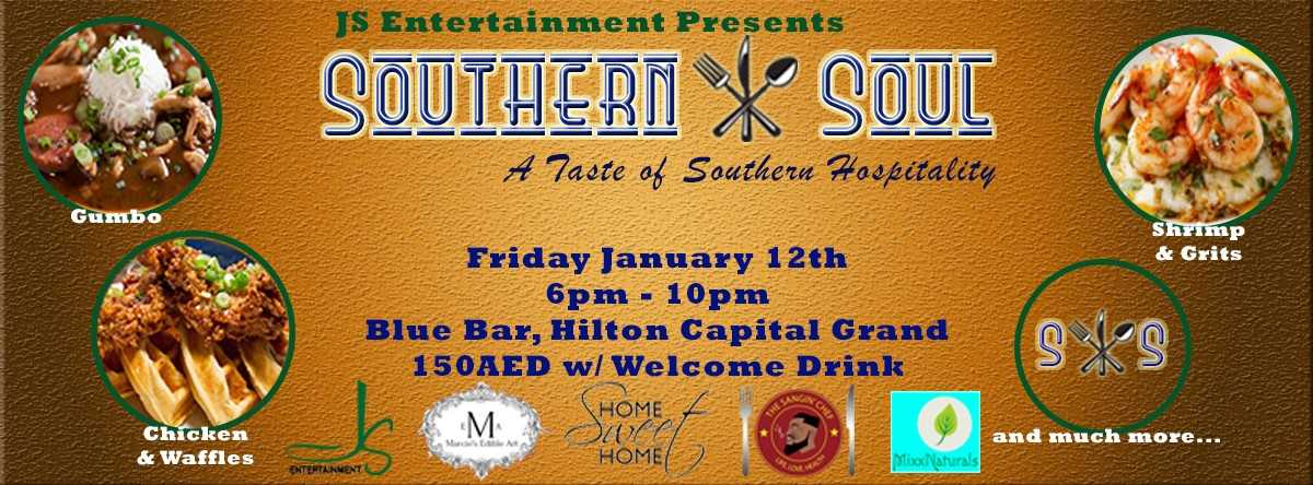 Southern Soul - 5 course Tapas style with an After party