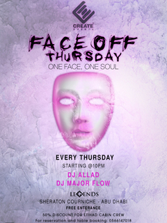 Face Off Thursdays @ Legends
