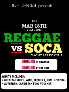 Influential presents: The REGGAE vs SOCA Yacht Party VOL.2