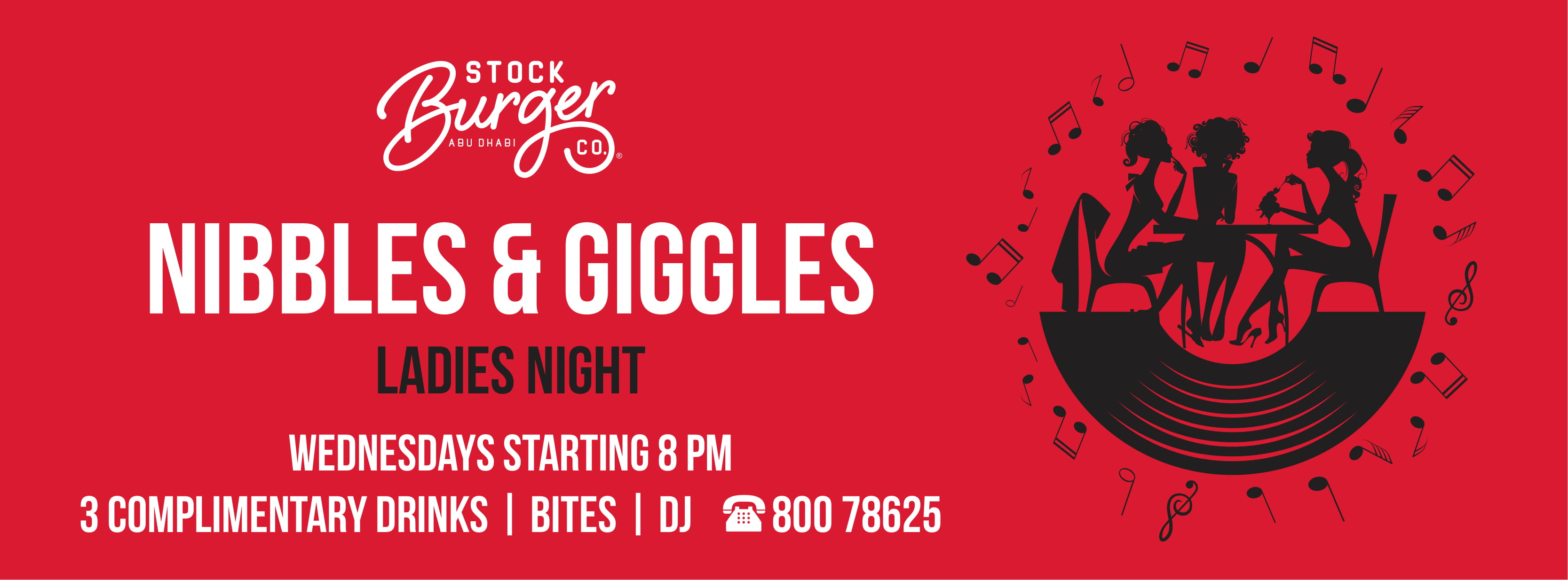 Nibbles & Giggles - Ladies Night @ Stock Burger Co.