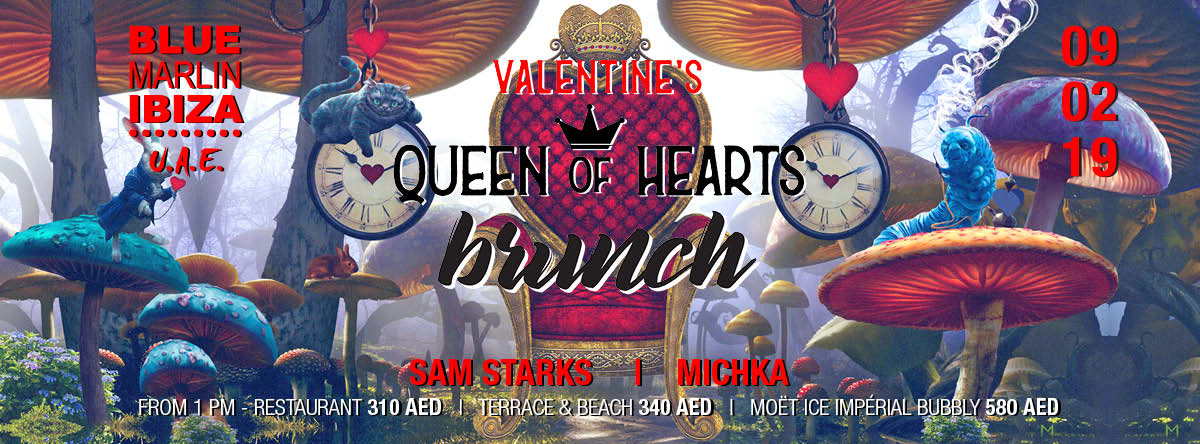 Queen of Hearts Brunch @ Blue Marlin Ibiza UAE